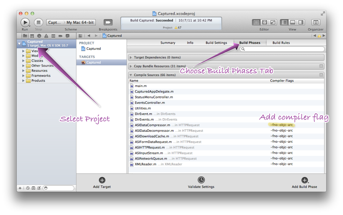 Xcode Screen Shot